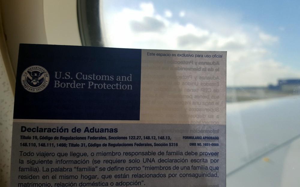 b8b10a53 Es un formulario de aduanas donde incluir tus datos personales, los del  vuelo en el que entras en el país, el propósito de tu viaje y si tienes  algo que ...