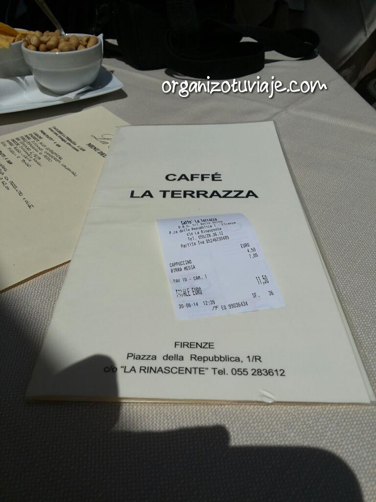 FLORENCIA. CAFE LA TERRAZA