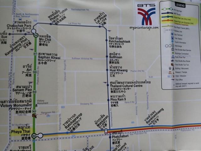 mapa de metro de bangkok