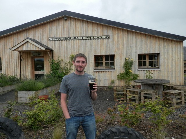 We stopped at Black Isle brewery for an organic craft brew. The tour was free and the beer was great. It was the only place we had a really cold beer.