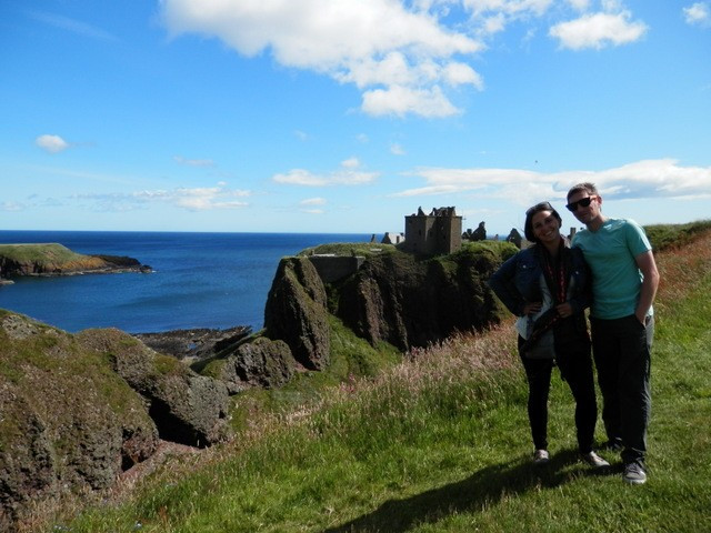 Dunnotar castle on our way to Aberdeen on one of the few sunny days.