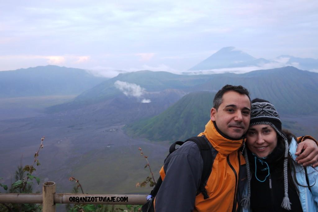 Volcán Bromo con una agencia local