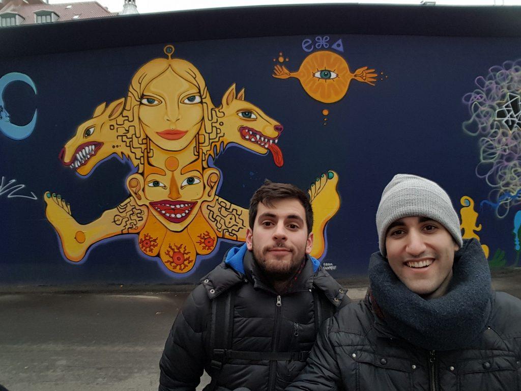 Graffitis en el barrio de Vesterbro