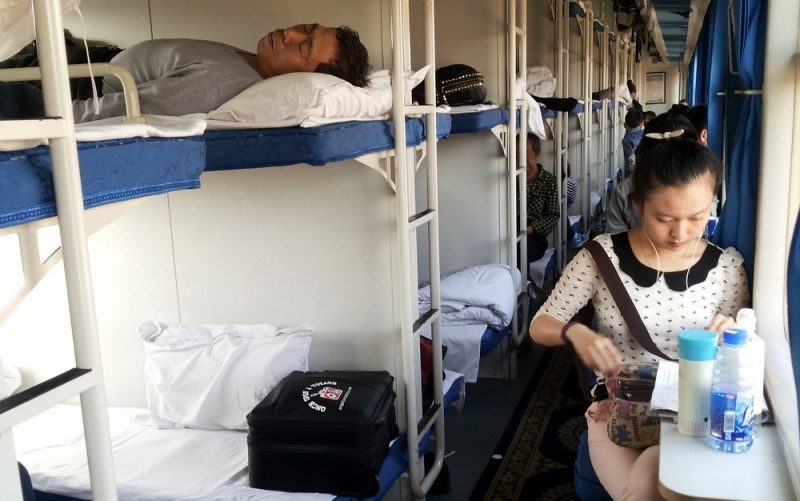 Viajar en tren en China