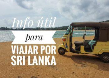 Consejos para viajar a Sri Lanka by organizotuviaje.com