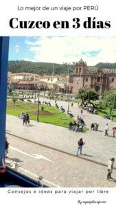 qué hacer en Cuzco en 3 días