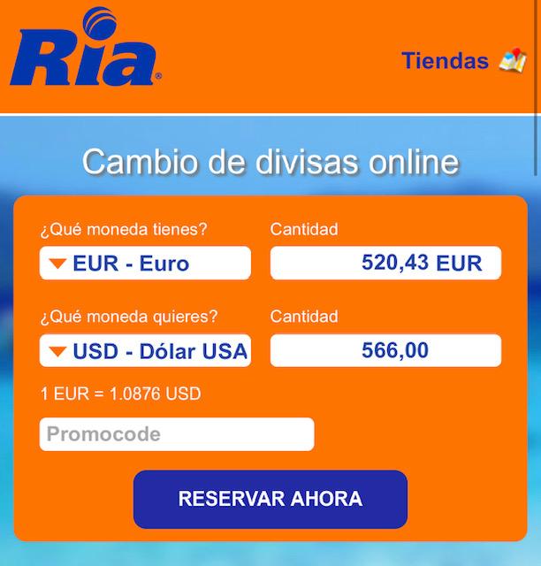 b9e7d1b253f4 Tienen una calculadora donde metes la cantidad que quieres llevar de viaje  (EUR- Euro)