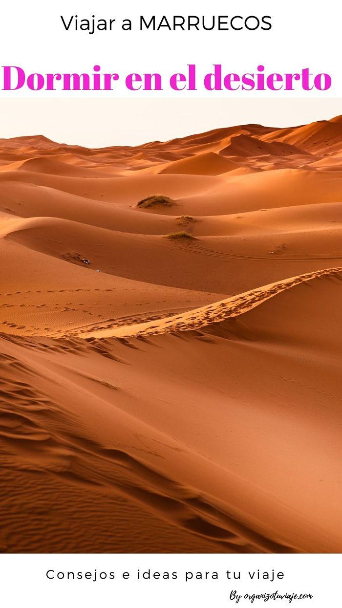 dormir en el desierto en Marruecos