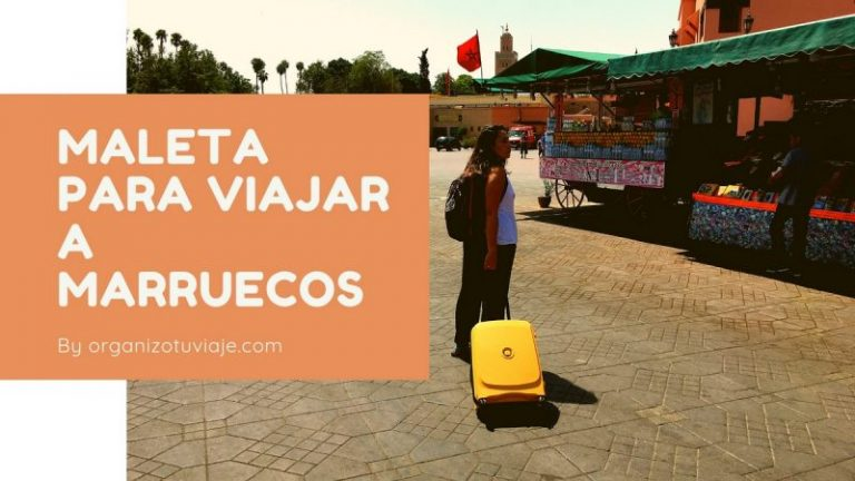 Maleta para viajar a Marruecos