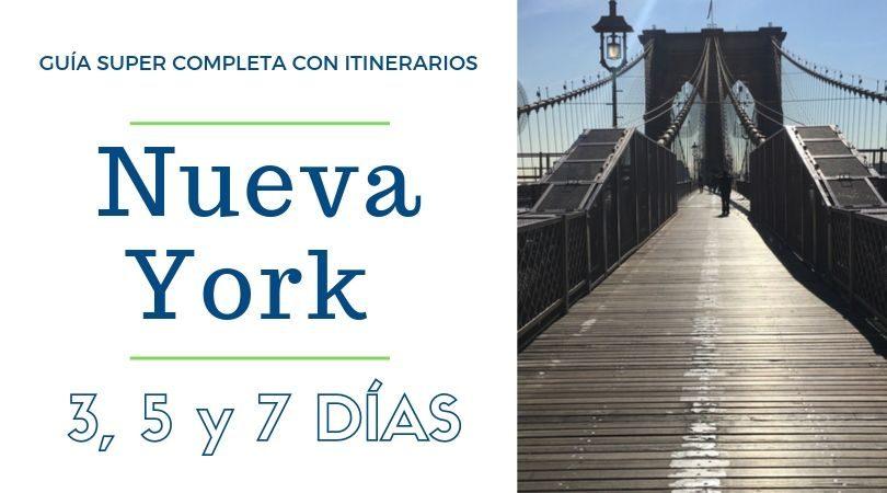 Nueva York con itinerarios