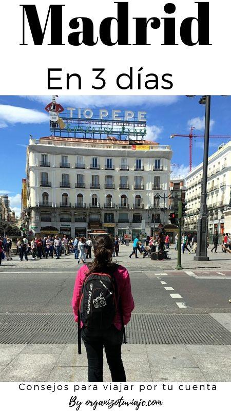 Madrid en 3 días by organizotuviaje.com