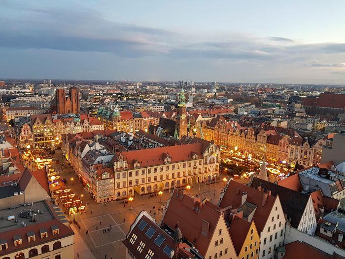 Mercado de navidad en Breslavia, Polonia