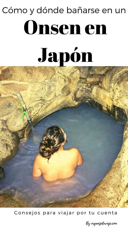 bañarse en un onsen en Japón